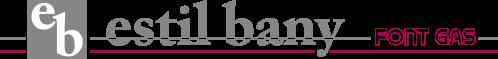 Logotipo estil bany fontgas