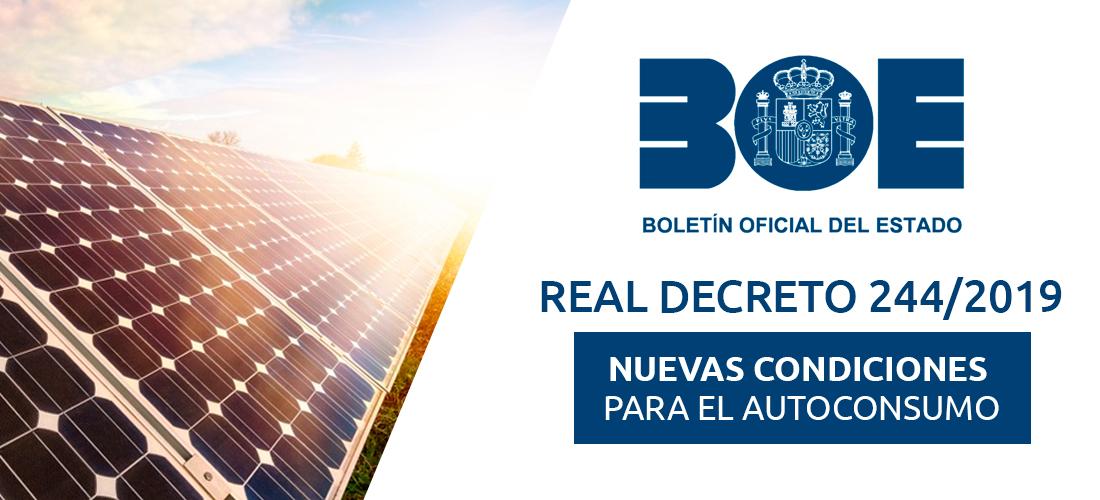 Real Decreto 244-2019