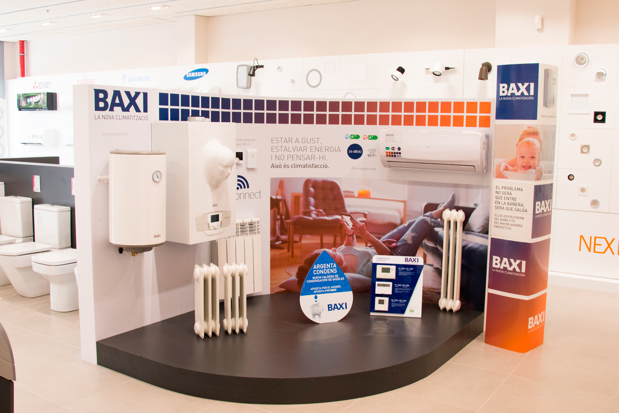 stand exclusivo baxi fontgas maquinista
