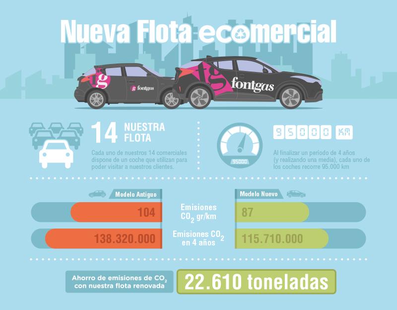 Infografia sobre nuestra flota de coches