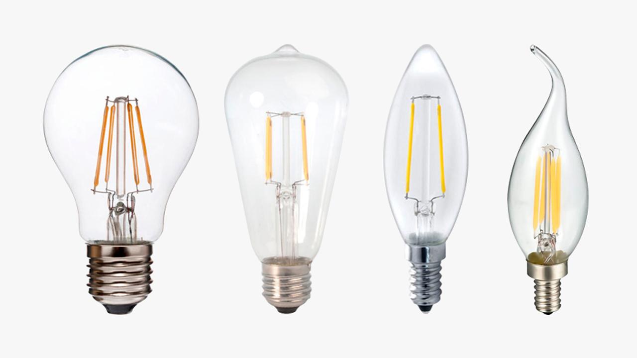 Tipos de bombillas de filamento led