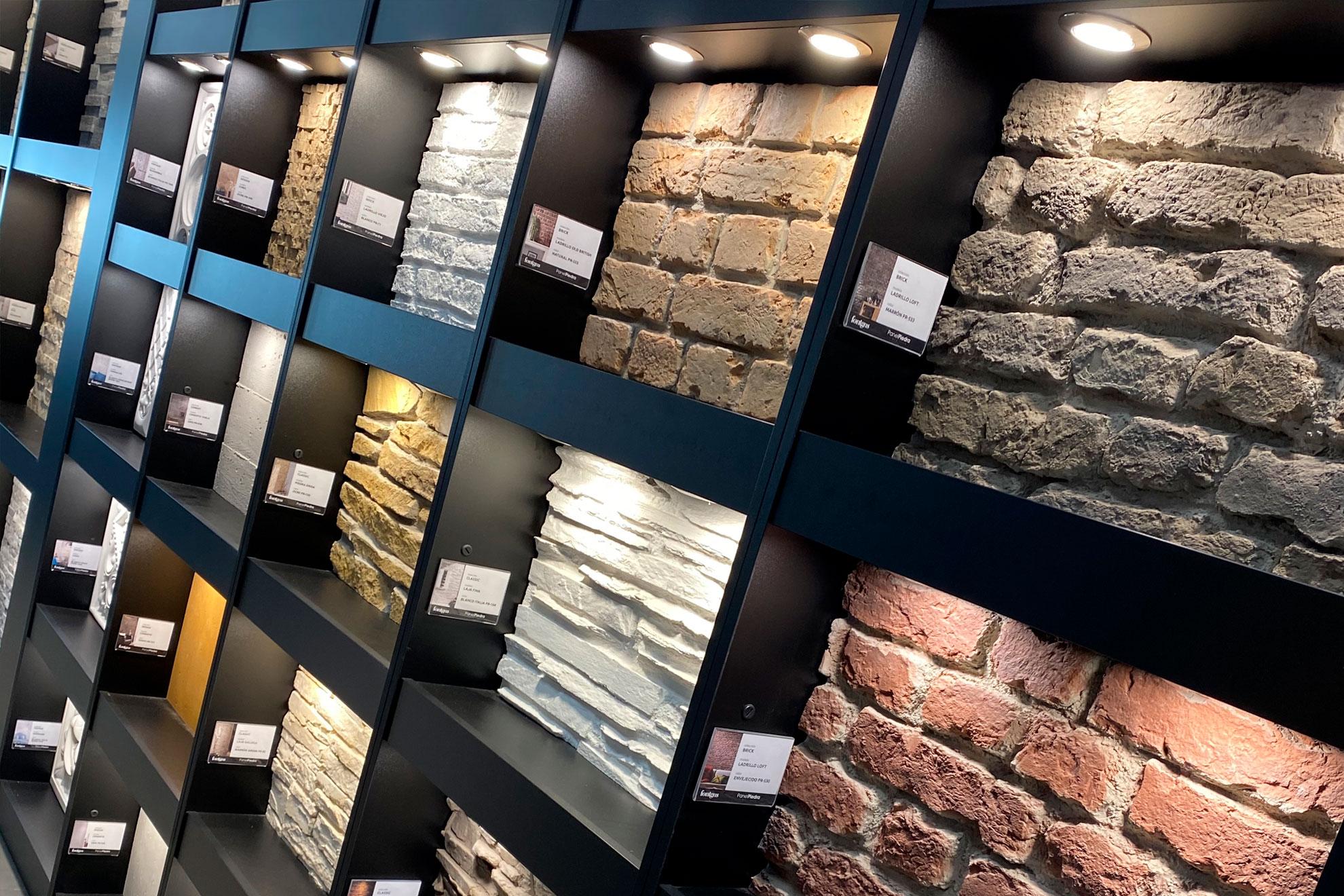 Exposición Fontgas Terrassa exposición de panel piedra
