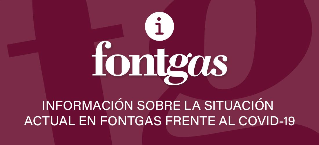 Información sobre la situación actual en Fontgas frente al COVID 19